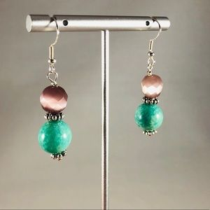 Frontrow.style Jewelry - Sterling Silver Earrings Purple Cats Eye Amazon.